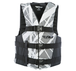 FLY RACING 2017 Nylon Watersports Life Vest Jacket (Grey/Black)
