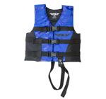 FLY RACING Kids 2017 Nylon Watersports Life Vest Jacket (Blue/Black)