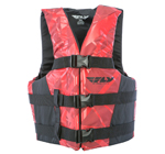 FLY RACING 2017 Nylon Watersports Life Vest Jacket (Red/Black)