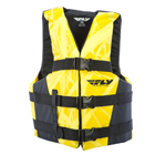 FLY RACING 2017 Nylon Watersports Life Vest Jacket (Yellow/Black)