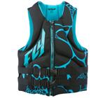FLY RACING Men's 2017 Neoprene Watersports Life Vest Jacket (Aqua/Black)