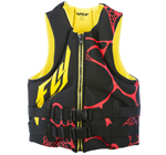 FLY RACING Men's 2017 Neoprene Watersports Life Vest Jacket (Yellow/Black)