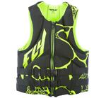 FLY RACING Men's 2017 Neoprene Watersports Life Vest Jacket (Black/Green)