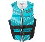 FLY RACING Womens 2017 Neoprene Watersports Life Vest Jacket (Aqua/Black)