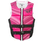 FLY RACING Womens 2017 Neoprene Watersports Life Vest Jacket (Pink/Black)