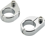 Biltwell Inc Straight Gauge Mount Clamps (Chrome)