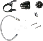 Arlen Ness - 15-670 - Oil Pressure Gauge Kit, Deep Cut