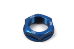 Works Connection Steering Stem Nut Kawasaki (Blue) 24-320
