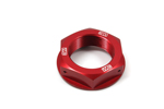 Works Connection Steering Stem Nut Kawasaki (Red) 24-325