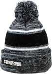 Moose Racing MX Off-Road Drift Knit Pom Pom Beanie (Black/Gray/White)