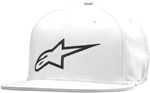 Alpinestars AGELESS Flat Bill Flex Back Hat/Cap (White/Black)