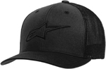 Alpinestars AGELESS STRETCH MESH Curve Bill Flex Back Hat/Cap (Black/Black)
