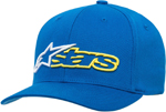 Alpinestars REBLAZE Curve Bill Flex Back Hat/Cap (Blue/White)