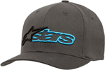 Alpinestars REBLAZE Curve Bill Flex Back Hat/Cap (Charcoal Gray/Black)