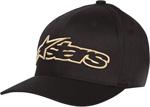 ALPINESTARS BLAZE Curved Bill Flex Fit Hat (Black/Gold)