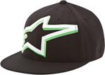 Alpinestars MACKEY Flat Bill Flex Fit Hat/Cap (Dark Gray/Green)
