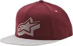 ALPINESTARS KNOX Flat Bill Snapback Hat (Burgandy)