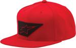 ALPINESTARS LENZ Flat Bill Snapback Hat (Red)