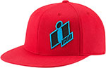 ICON Flat Bill Flex Fit Hat (DOUBLE UP Red/Black)
