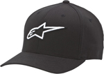 Alpinestars CORPORATE Curved Bill Flex Fit Hat/Cap (Black)