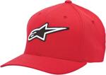 Alpinestars CORPORATE Curved Bill Flex Fit Hat/Cap (Red)