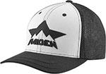 ICON Raiden DKR Flex-Fit Curved Bill Hat (Black/White)