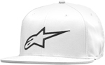 Alpinestars 2016 CORP Flat Bill Flex-Fit Hat/Cap (White)