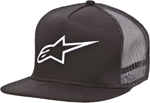 Alpinestars 2016 CORP Flat Bill Snap-Back Trucker Hat/Cap (Black)