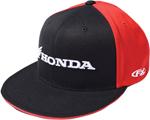 Factory Effex Official Licensed HONDA Horizontal Flex-Fit Flat Bill Hat/Cap (Black/Red)