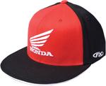 Factory Effex Official Licensed HONDA Big Wing Flex-Fit Flat Bill Hat/Cap (Red/Black)