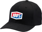 100% MX Motocross CLASSIC Curved Bill Flex-Fit Hat/Cap (Black)