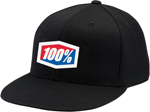 100% MX Motocross ESSENTIAL Flat Bill J Fit Fitted Hat/Cap (Black)