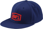 100% MX Motocross ESSENTIAL Flat Bill J Fit Fitted Hat/Cap (Blue)