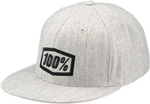 100% MX Motocross ESSENTIAL Flat Bill J Fit Fitted Hat/Cap (Heather Grey)