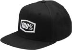 100% MX Motocross Kids CORPO 210 Fitted Flat Bill Hat/Cap (Black/White)