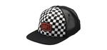 100% MX Motocross Kids CHECKERS Trucker Flat Bill Hat/Cap (Black)