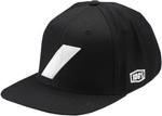 100% MX Motocross SLASH Snapback Flat Bill Hat/Cap (Black)