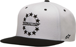 ALPINESTARS 2017 ACE Flat-Bill Snap-Back Hat/Cap (White)