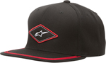 ALPINESTARS 2017 EARL Flat-Bill Snap-Back Hat/Cap (Black)