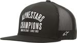 ALPINESTARS 2017 A CHAMPIONS Flat-Bill Snap-Back Trucker Hat/Cap (Black)