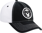 MOOSE Racing 2017 CLASSIC Snapback Curved Bill Hat/Cap (Black/White)