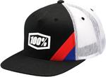 100% MX Motocross CORNERSTONE Twill Trucker Flatbill Snapback Hat/Cap (Black) One Size