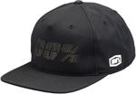 100% MX Motocross FRAGMENT Poly Flatbill Snapback Hat/Cap (Black) One Size