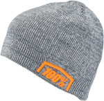 100% MX Motocross ESSENTIAL Beanie/Hat - Acrylic Skully Fit (Charcoal Heather) One Size