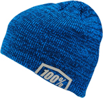 100% MX Motocross ESSENTIAL Beanie/Hat - Acrylic Skully Fit (Heather Blue) One Size