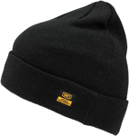100% MX Motocross MIKKELI Relaxed Fit Beanie/Hat with Cuff (Black) One Size