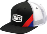 100% MX Motocross Kids CORNERSTONE Twill Trucker Flatbill Snapback Hat/Cap (Black) Youth