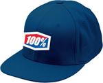 100% MX Motocross ESSENTIAL Flatbill Flex J Fit Fitted Hat/Cap (Blue)