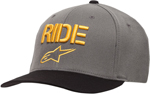 Alpinestars RIDE Hat/Cap Curved-Bill, Flex-Back (Grey)