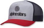 Alpinestars ORIGIN Curve-bill Snap-Back Trucker Hat/Cap (Red/Black)